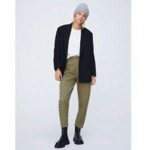 Zara Corduroy Baggy Paperbag Trousers